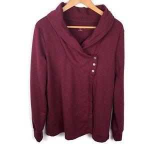 Danskin French Terry Wrap Cardigan Sweater